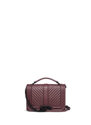 Main View - Click To Enlarge - Rebecca Minkoff - 'Love' small quilted leather crossbody bag