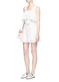 HELEN LEE Ruffle layer belted dress
