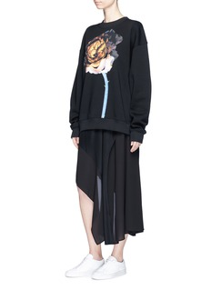 Acne Studios'Yana' oversized floral print sweatshirt