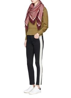 Isabel Marant Étoile'Haven' contrast outseam high waist slim jeans