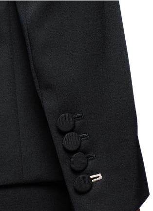 Detail View - Click To Enlarge - Stella McCartney - Faille lapel wool tuxedo jacket