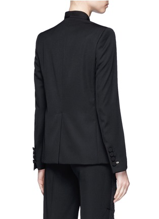 Back View - Click To Enlarge - Stella McCartney - Faille lapel wool tuxedo jacket