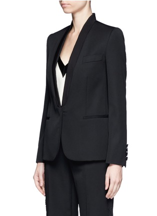 Front View - Click To Enlarge - Stella McCartney - Faille lapel wool tuxedo jacket