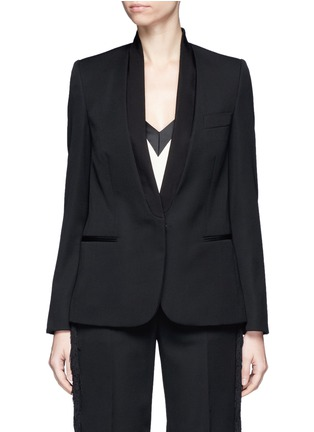 Main View - Click To Enlarge - Stella McCartney - Faille lapel wool tuxedo jacket