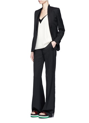 Figure View - Click To Enlarge - Stella McCartney - Faille lapel wool tuxedo jacket