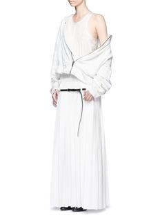 Haider AckermannOversized pleated silk satin sleeveless dress