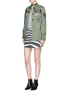 Marc Jacobs Embellished enzyme wash padded military shirt