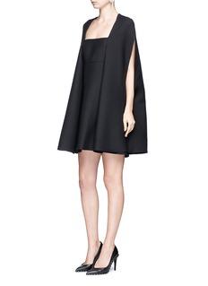 ValentinoCrepe Couture cape dress