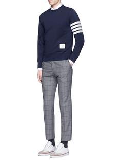Thom BrowneStripe sleeve cotton sweatshirt