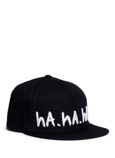 Haculla'ROFL' slogan embroidered snapback cap
