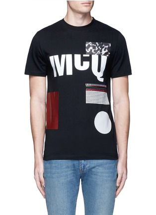 Main View - Click To Enlarge - McQ Alexander McQueen - Mix logo print cotton T-shirt