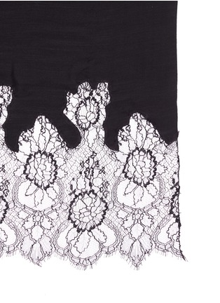 Valentino - Floral lace wool blend scarf