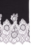 Floral lace wool blend scarf