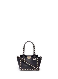 Valentino'Rockstud' micro mini leather tote