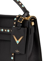 'My Rockstud Rolling' small cabochon stud leather bag