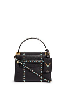 Valentino'My Rockstud Rolling' small cabochon stud leather bag