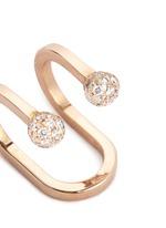 'Double Rocker' diamond 18k rose gold lip ring