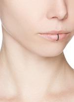 'Single Rocker' black diamond 18k rose gold lip ring