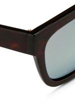 Tortoiseshell effect acetate square sunglasses
