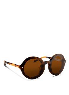 3.1 PHILLIP LIMMounted lens tortoiseshell acetate round sunglasses