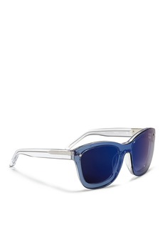 3.1 PHILLIP LIMMounted lens acetate D-frame sunglasses