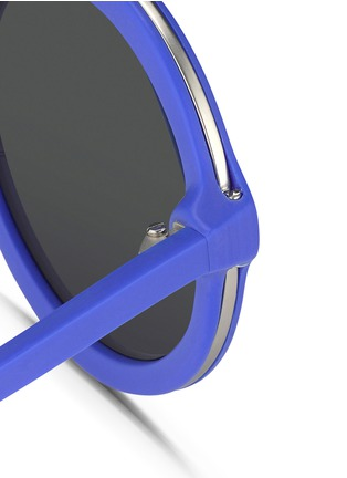 Detail View - Click To Enlarge - 3.1 Phillip Lim - Wire rim matte acetate round sunglasses