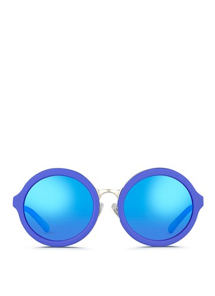 Main View - Click To Enlarge - 3.1 Phillip Lim - Wire rim matte acetate round sunglasses