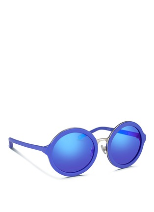 Figure View - Click To Enlarge - 3.1 Phillip Lim - Wire rim matte acetate round sunglasses