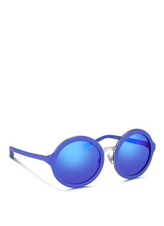 3.1 PHILLIP LIMWire rim matte acetate round sunglasses