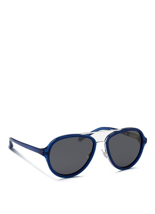 3.1 Phillip Lim - Wire rim acetate aviator sunglasses