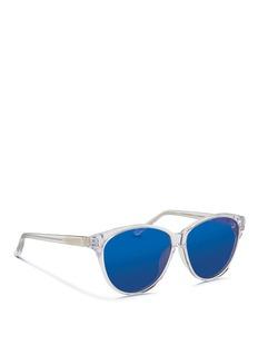 3.1 PHILLIP LIMOversize acetate cat eye mirror sunglasses