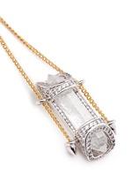 'Sibyl Vial' chain rock crystal drop earrings