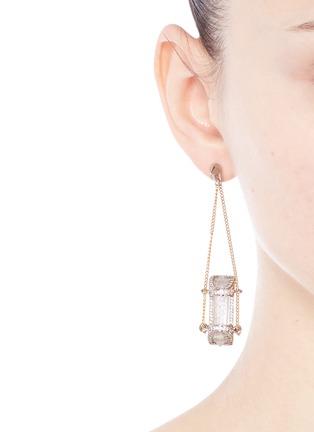 模特儿示范图 - 点击放大 - EDDIE BORGO - SIBYL晶石链条吊坠耳环