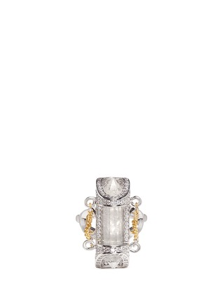 Main View - Click To Enlarge - Eddie Borgo - 'Sibyl Vial' chain rock crystal ring