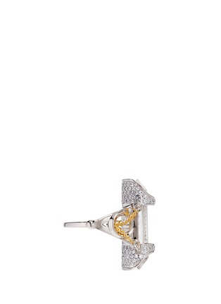 Figure View - Click To Enlarge - Eddie Borgo - 'Sibyl Vial' chain rock crystal ring