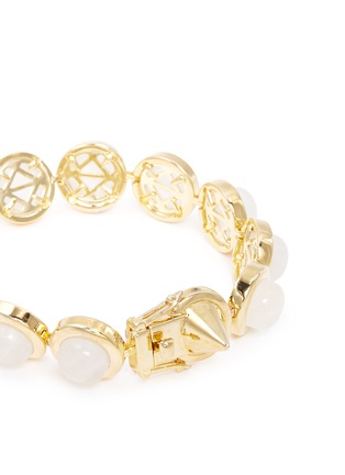 Detail View - Click To Enlarge - Eddie Borgo - Gemstone dome bracelet