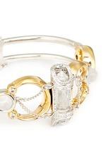 'Sibyl' chain rock crystal cabochon moon cuff