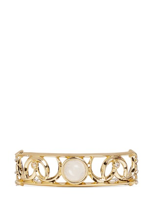Main View - Click To Enlarge - Eddie Borgo - 'Sibyl' cabochon crescent plate bracelet