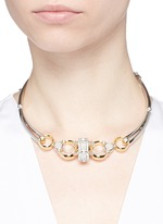 'Sibyl' chain rock crystal cabochon moon collar