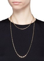 Gold plated peaked chain necklace