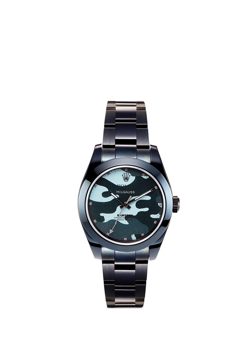 Rolex Milgauss camouflage oyster perpetual watch by Bamford Watch Department