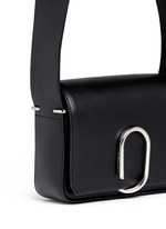 Alix' mini paperclip flap leather shoulder bag