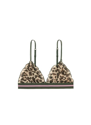 Love Stories - 'Regipetto' leopard print tulle bralette