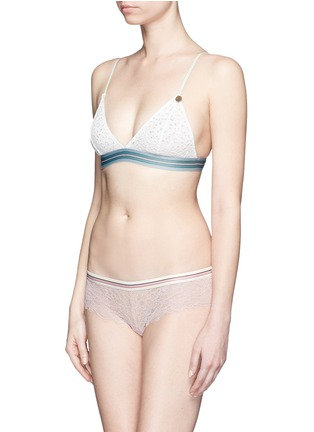 Figure View - Click To Enlarge - Love Stories - 'Showgirl' lace stripe triangle bralette