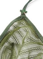 'Nightrider' front fastening chevron lace bralette