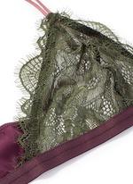 'Hazel' clasp front colourblock lace triangle bralette
