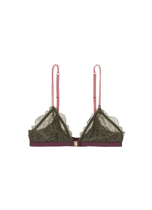 Main View - Click To Enlarge - Love Stories - 'Hazel' clasp front colourblock lace triangle bralette