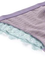 'Wild Rose' metallic knit lace briefs