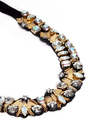 Detail View - Click To Enlarge - J CREW - Bead and crystal fabric-backed necklace