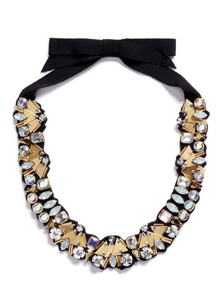 Main View - Click To Enlarge - J CREW - Bead and crystal fabric-backed necklace